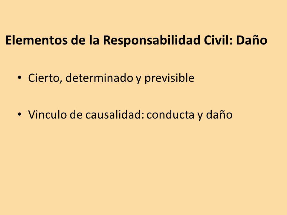 Elementos de la Responsabilidad Civil: Daño