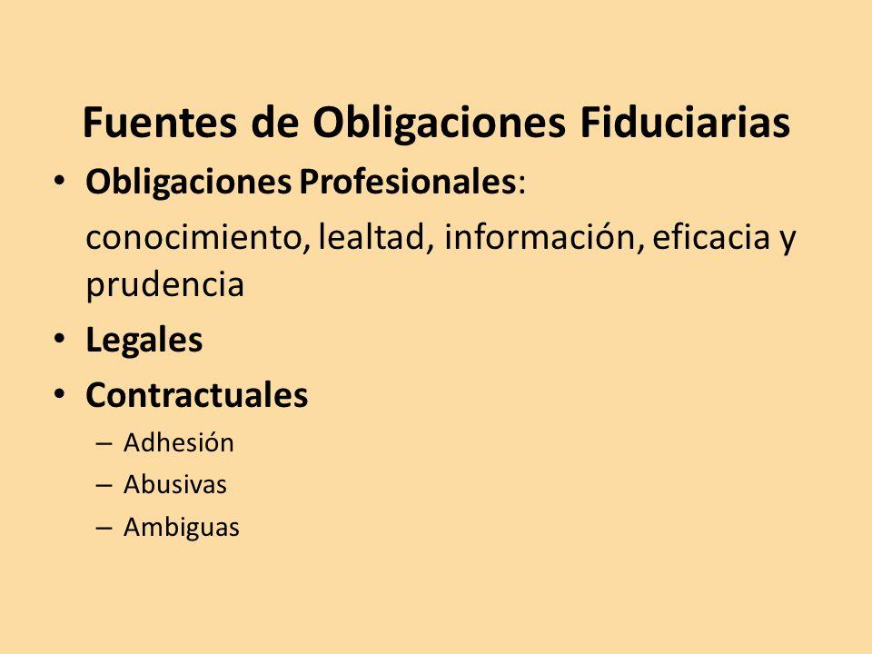 Fuentes de Obligaciones Fiduciarias