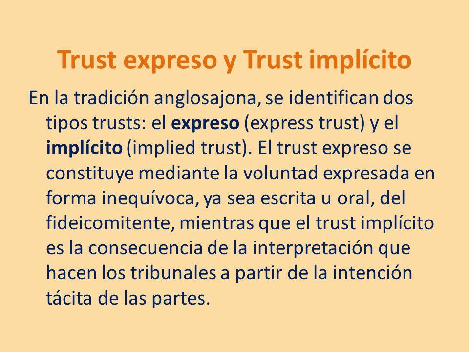 Trust expreso y Trust implícito