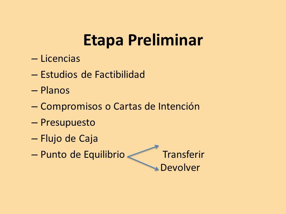Etapa Preliminar Licencias Estudios de Factibilidad Planos