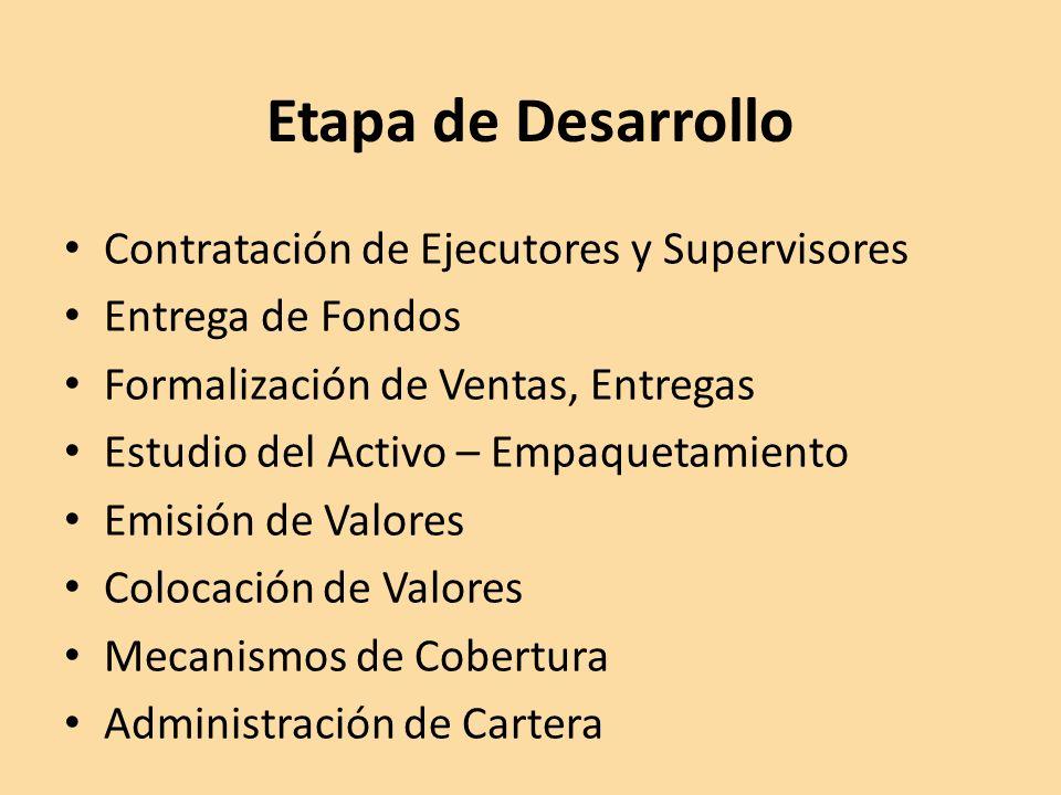 Etapa de Desarrollo Contratación de Ejecutores y Supervisores