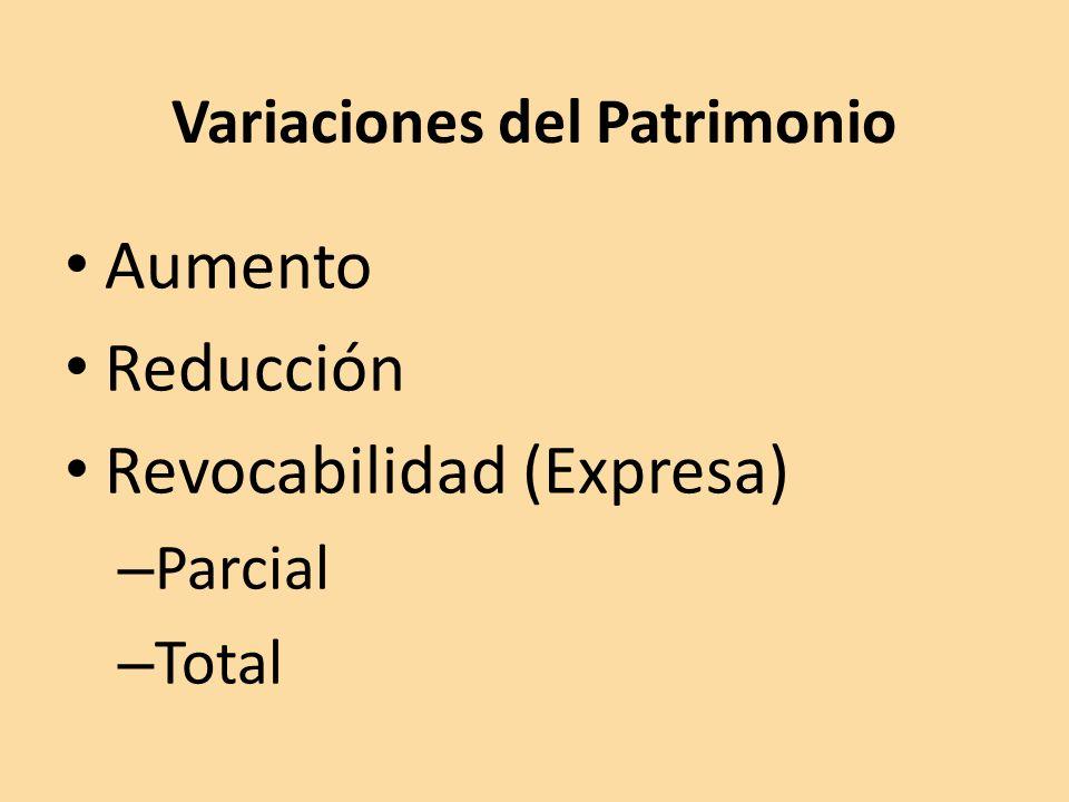 Variaciones del Patrimonio