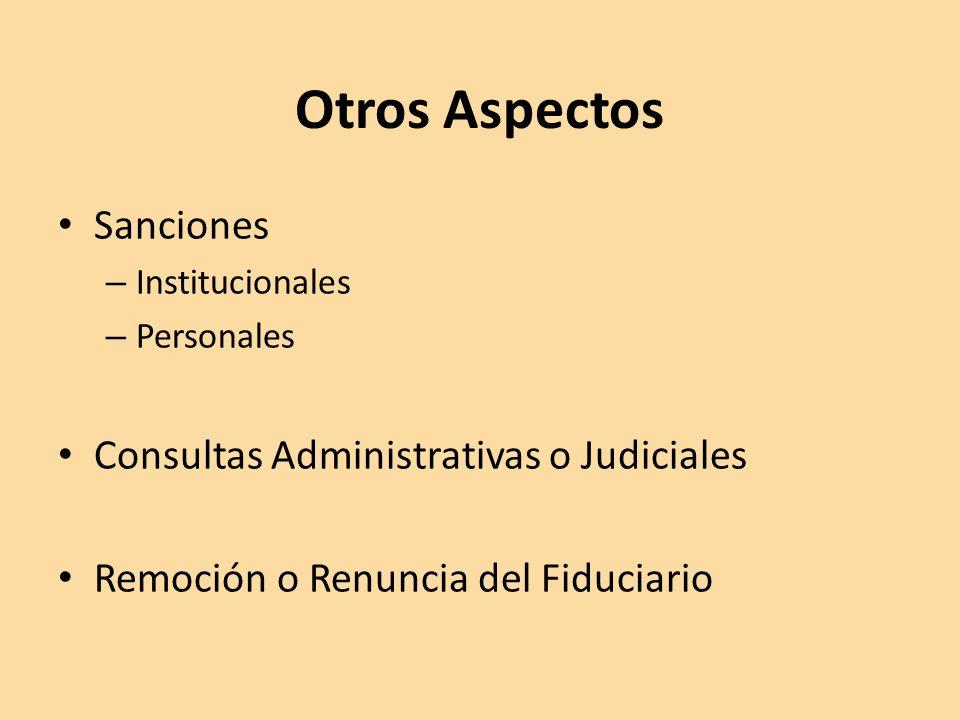 Otros Aspectos Sanciones Consultas Administrativas o Judiciales