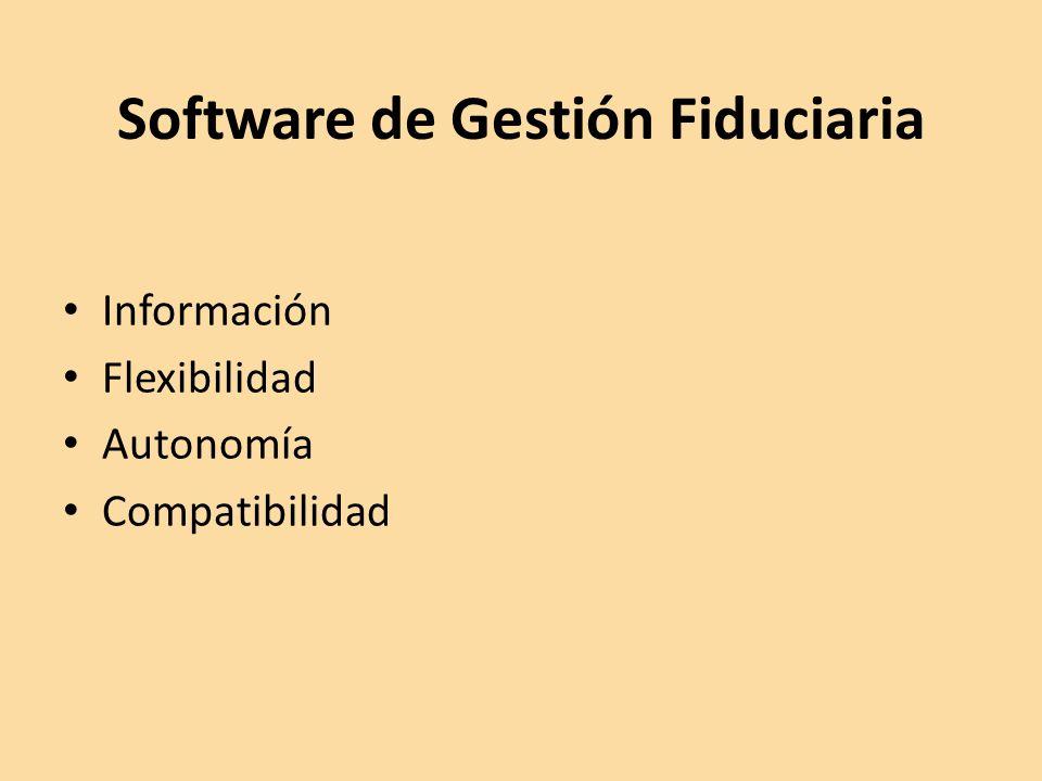 Software de Gestión Fiduciaria