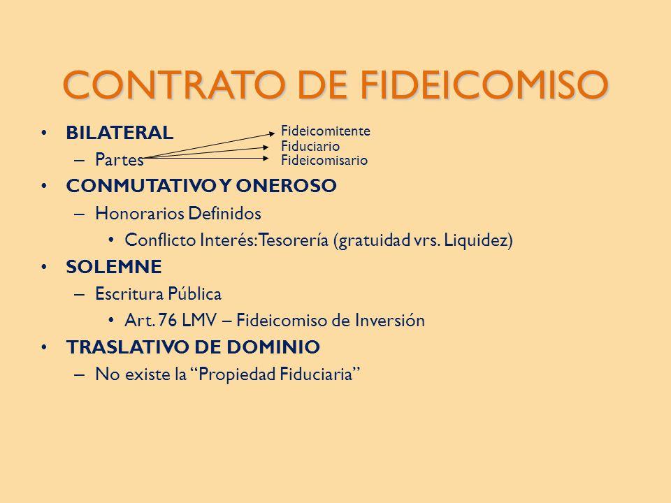 CONTRATO DE FIDEICOMISO
