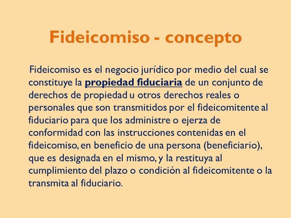 Fideicomiso - concepto