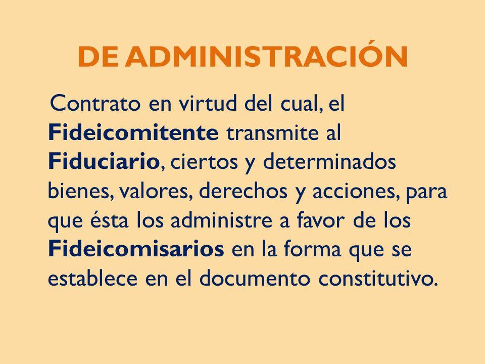 DE ADMINISTRACIÓN