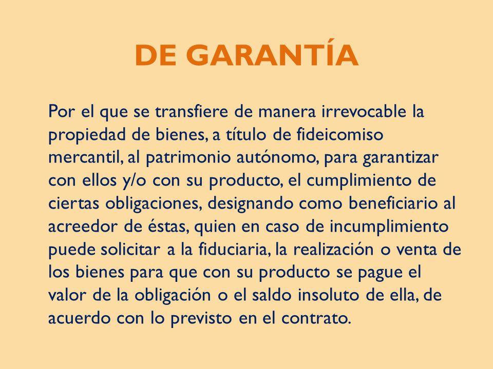 DE GARANTÍA