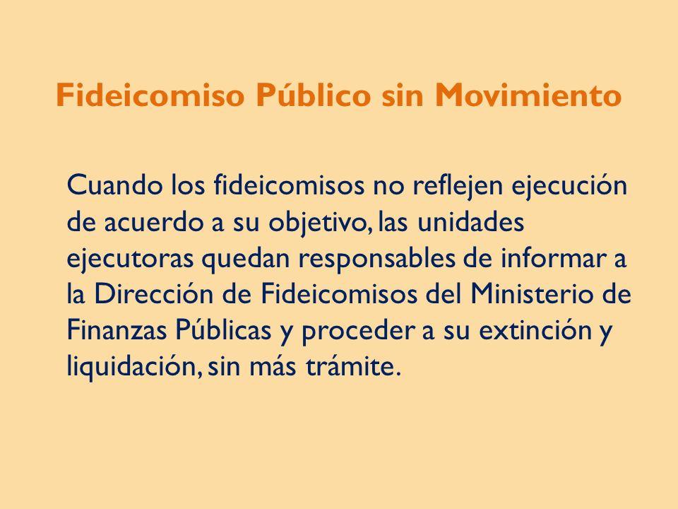 Fideicomiso Público sin Movimiento
