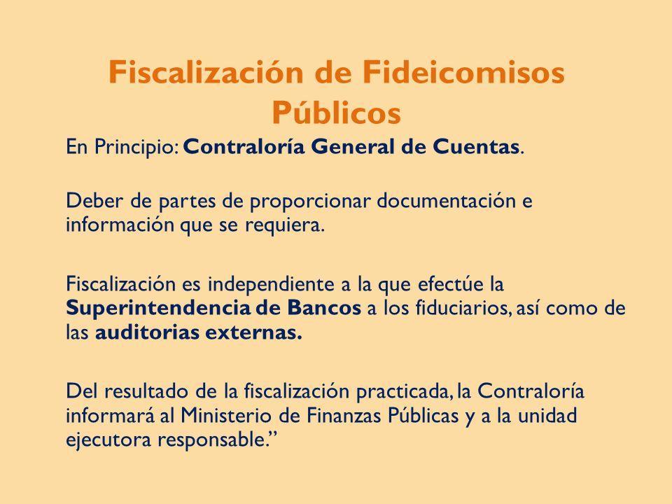 Fiscalización de Fideicomisos Públicos