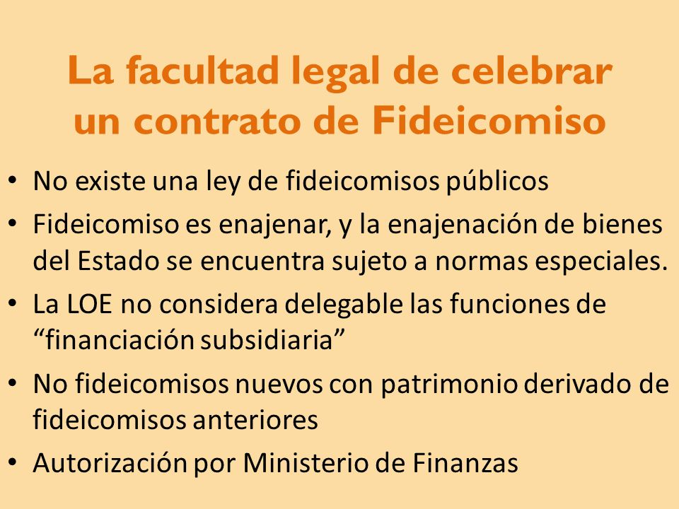 La facultad legal de celebrar un contrato de Fideicomiso