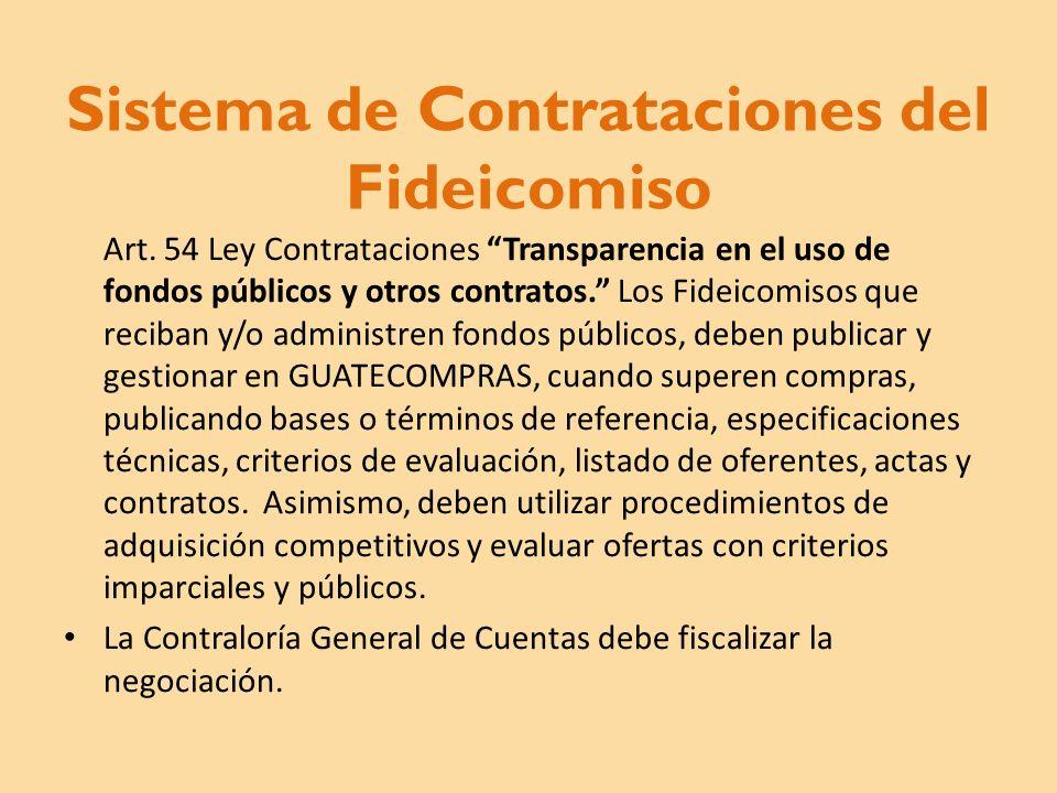 Sistema de Contrataciones del Fideicomiso