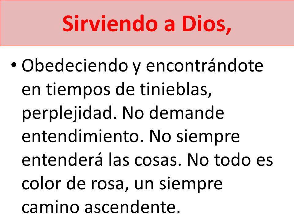 Sirviendo a Dios,