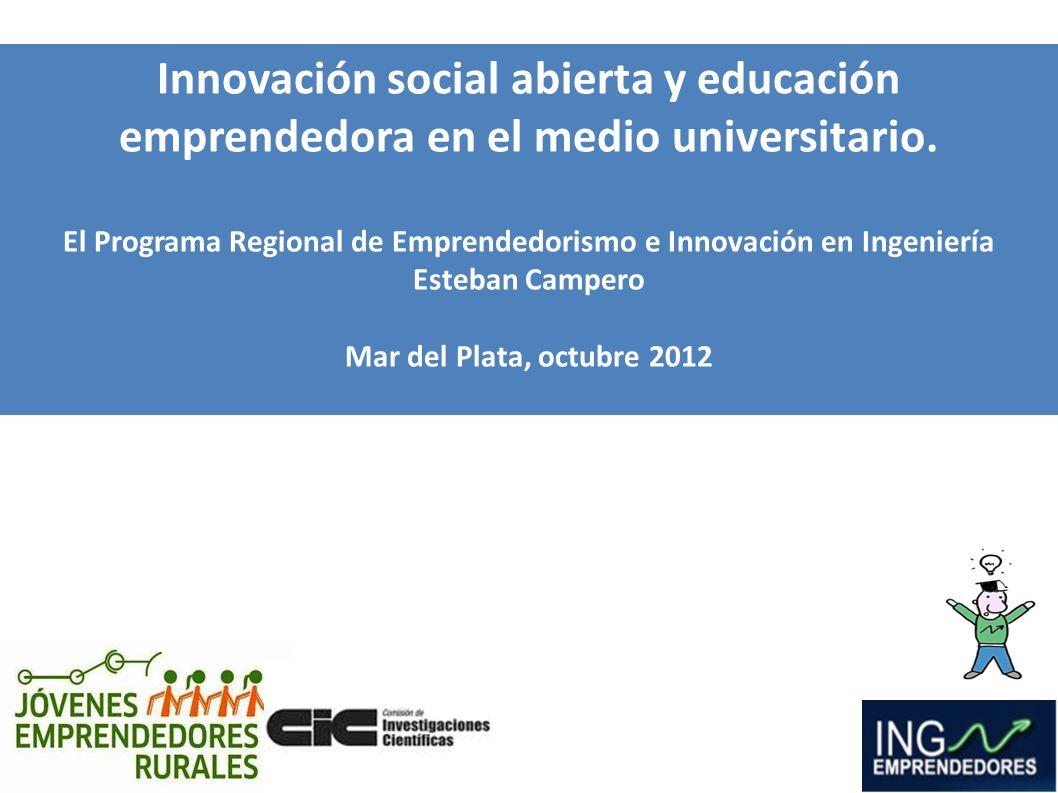 El Programa Regional de Emprendedorismo e Innovación en Ingeniería