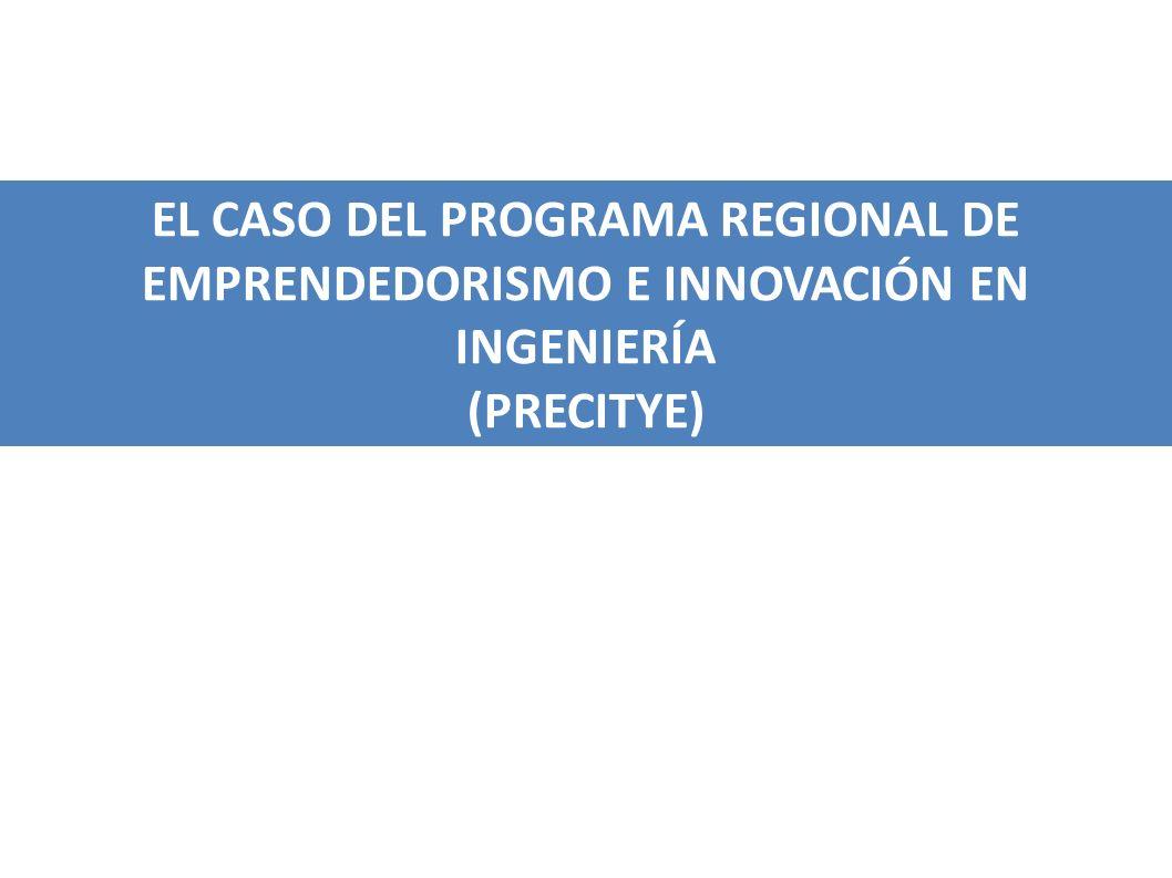 EL CASO DEL PROGRAMA REGIONAL DE EMPRENDEDORISMO E INNOVACIÓN EN INGENIERÍA (PRECITYE)