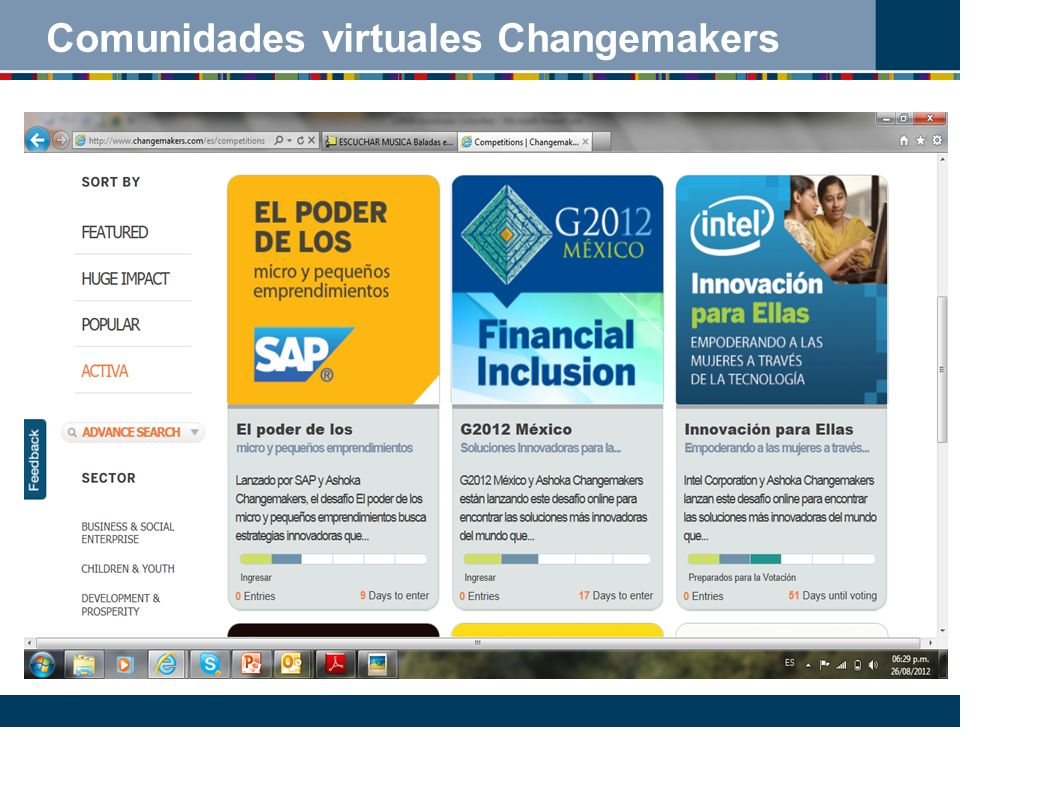 Comunidades virtuales Changemakers