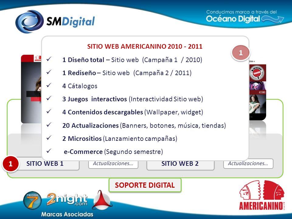 SITIO WEB AMERICANINO 2010 - 2011