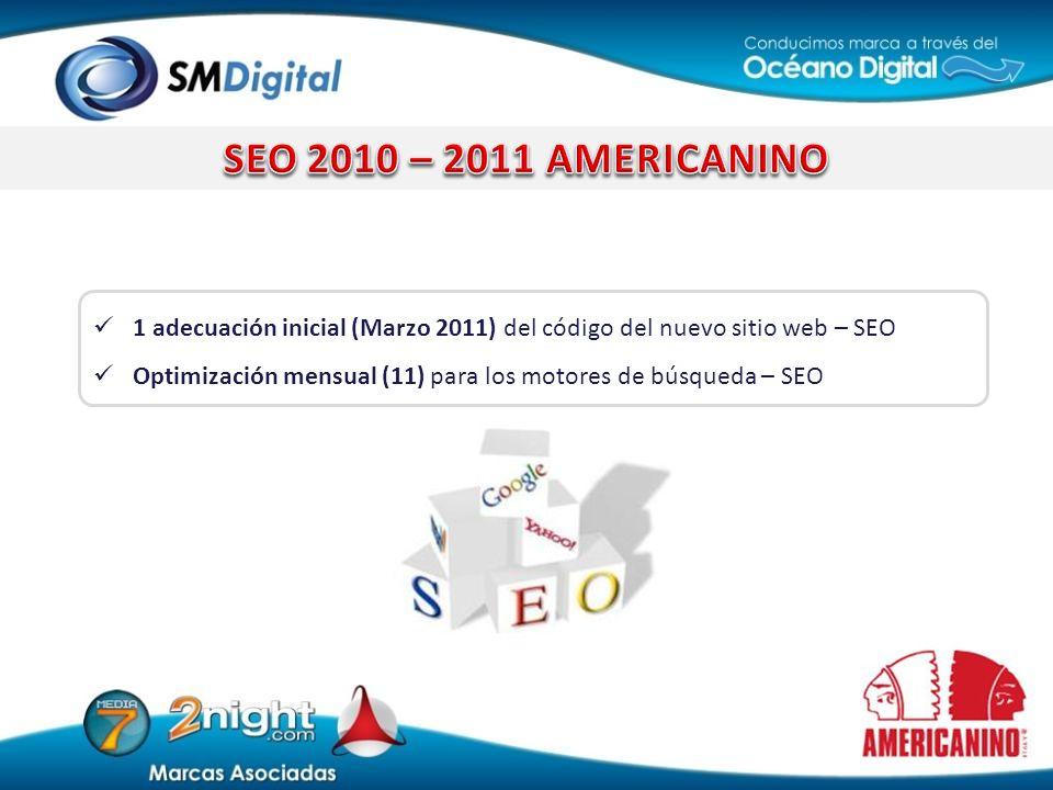 SEO 2010 – 2011 AMERICANINO 1 adecuación inicial (Marzo 2011) del código del nuevo sitio web – SEO.