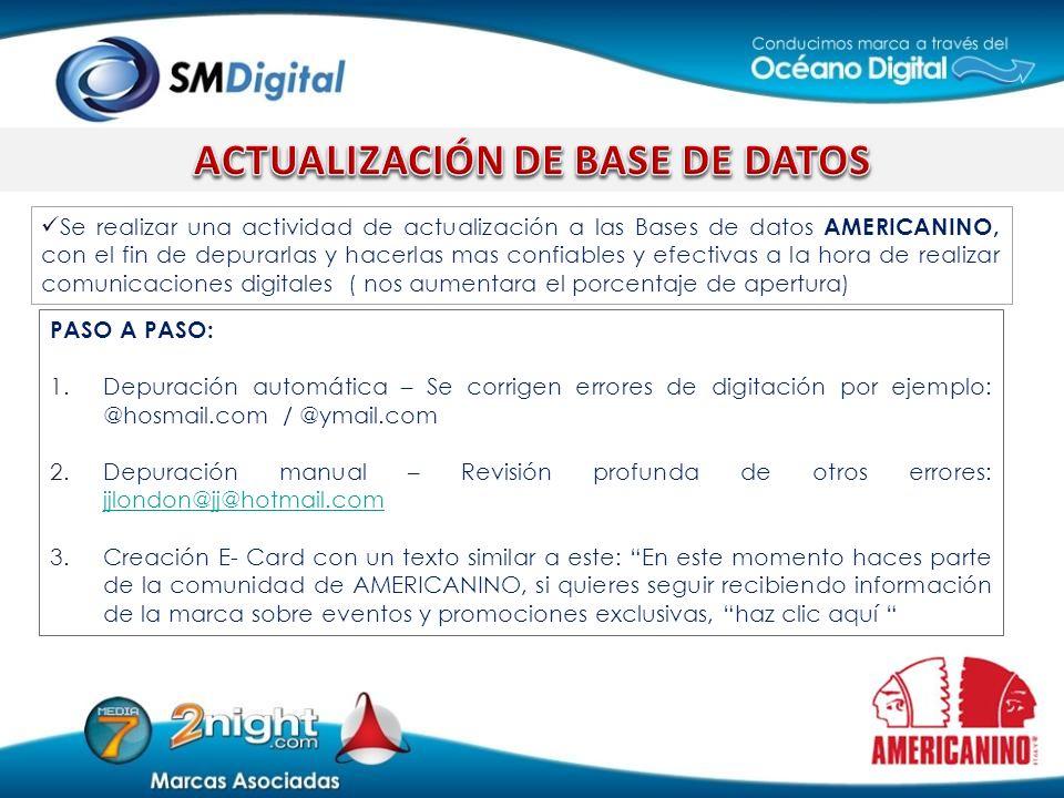 ACTUALIZACIÓN DE BASE DE DATOS