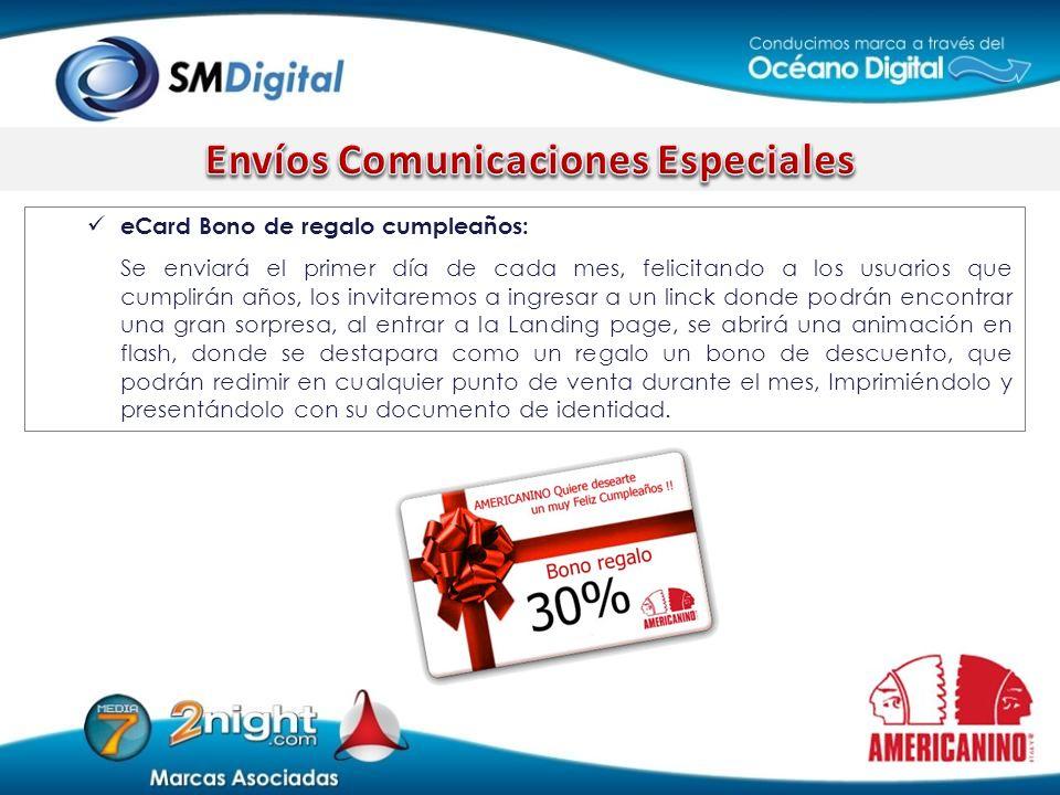 Envíos Comunicaciones Especiales