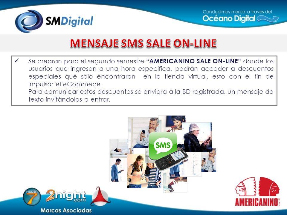 MENSAJE SMS SALE ON-LINE
