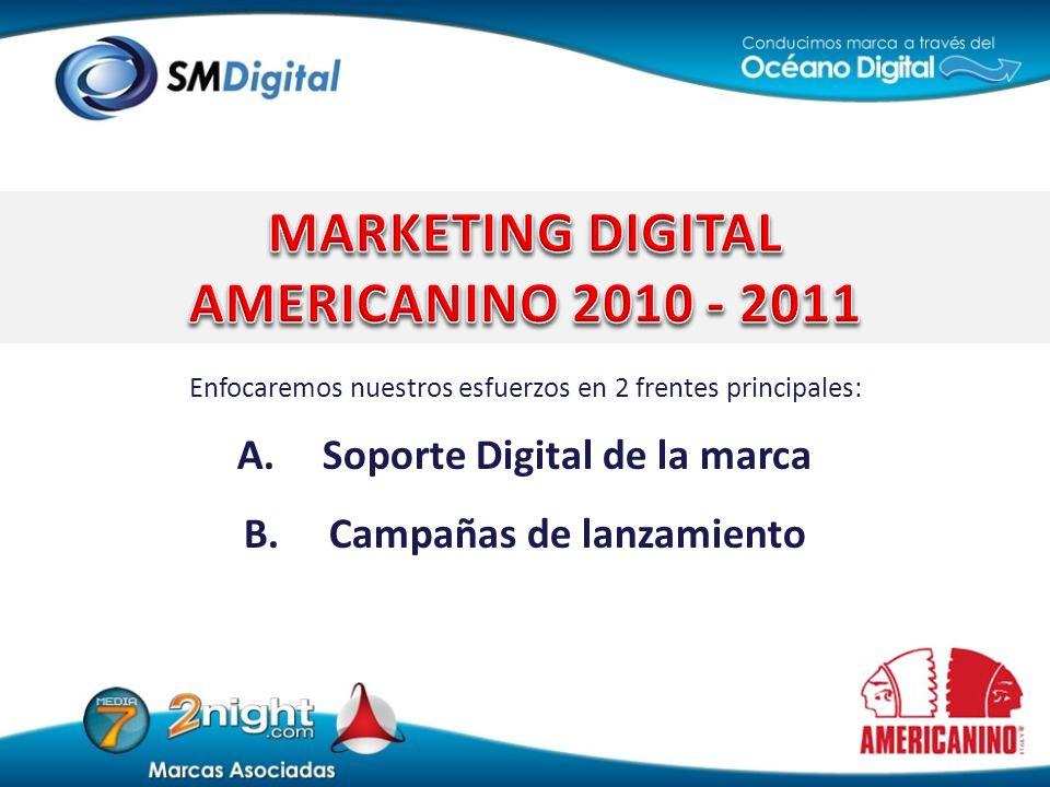 Soporte Digital de la marca Campañas de lanzamiento