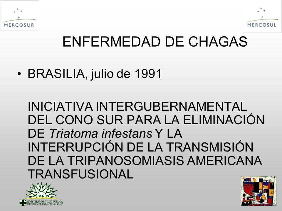 ENFERMEDAD DE CHAGAS BRASILIA, julio de 1991