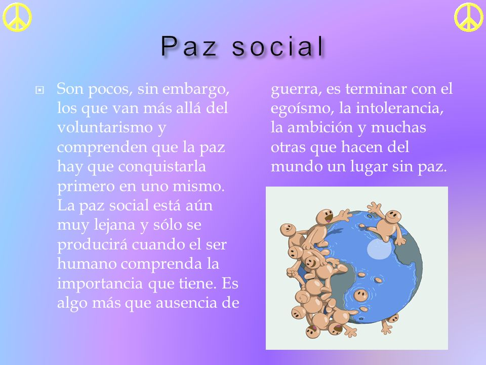 Paz social
