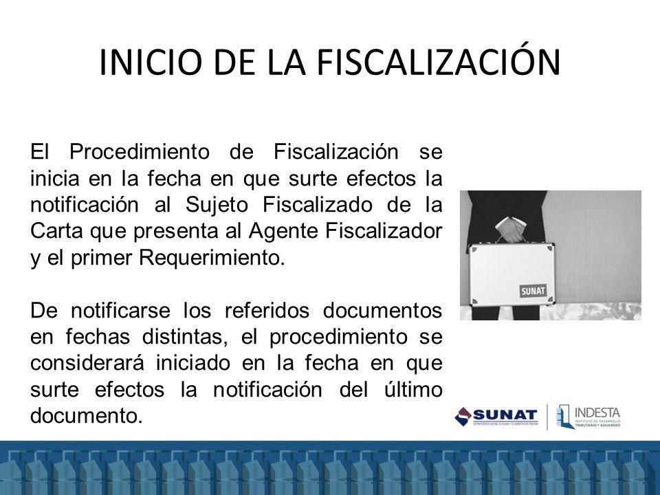 INICIO DE LA FISCALIZACIÓN