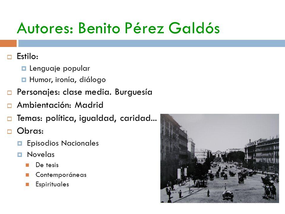 Autores: Benito Pérez Galdós
