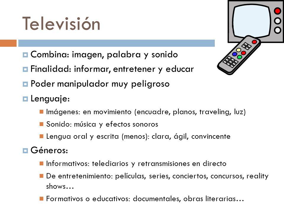 Televisión Combina: imagen, palabra y sonido