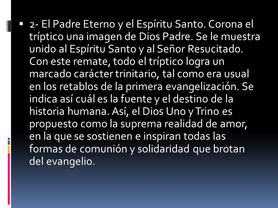 2- El Padre Eterno y el Espíritu Santo