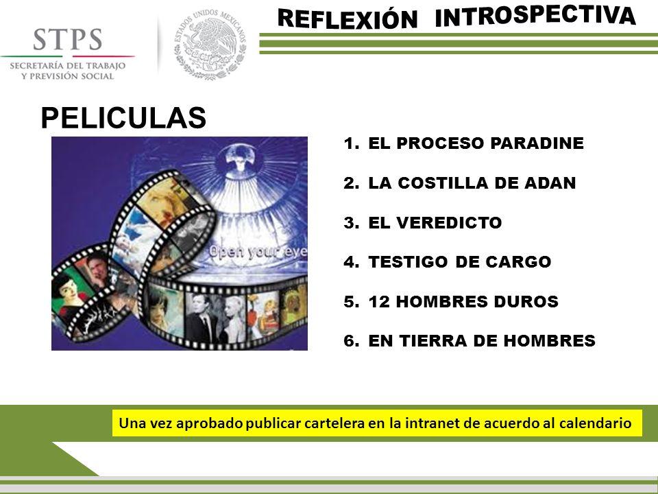 PELICULAS REFLEXIÓN INTROSPECTIVA EL PROCESO PARADINE