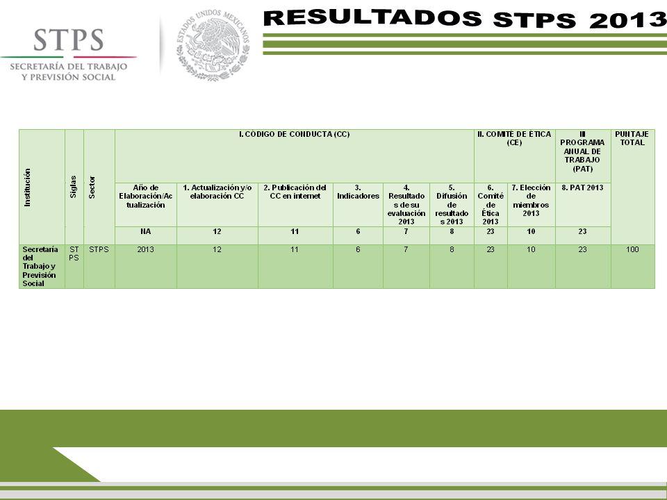 RESULTADOS STPS 2013