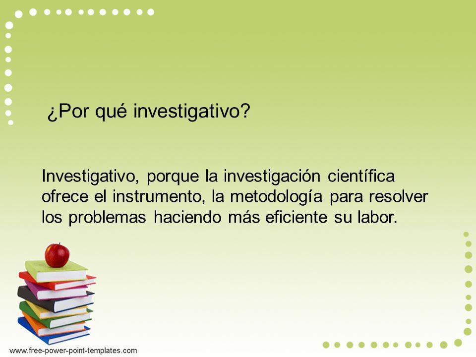 ¿Por qué investigativo