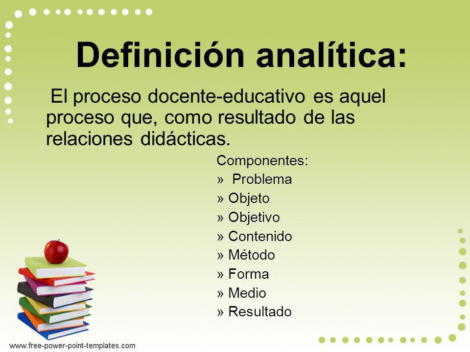 Definición analítica: