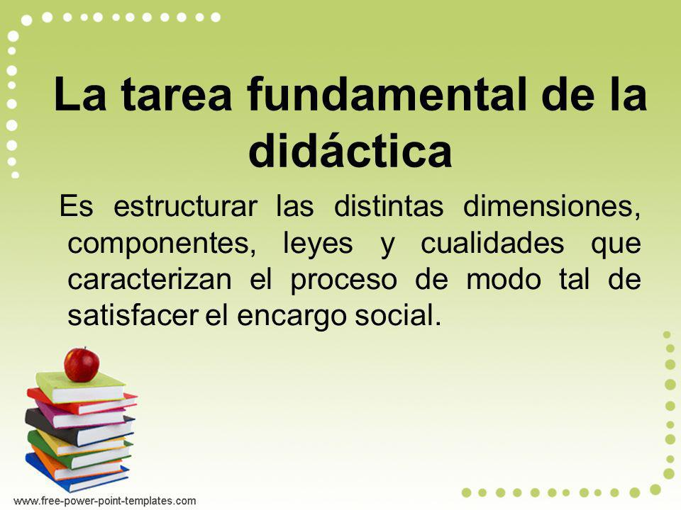 La tarea fundamental de la didáctica