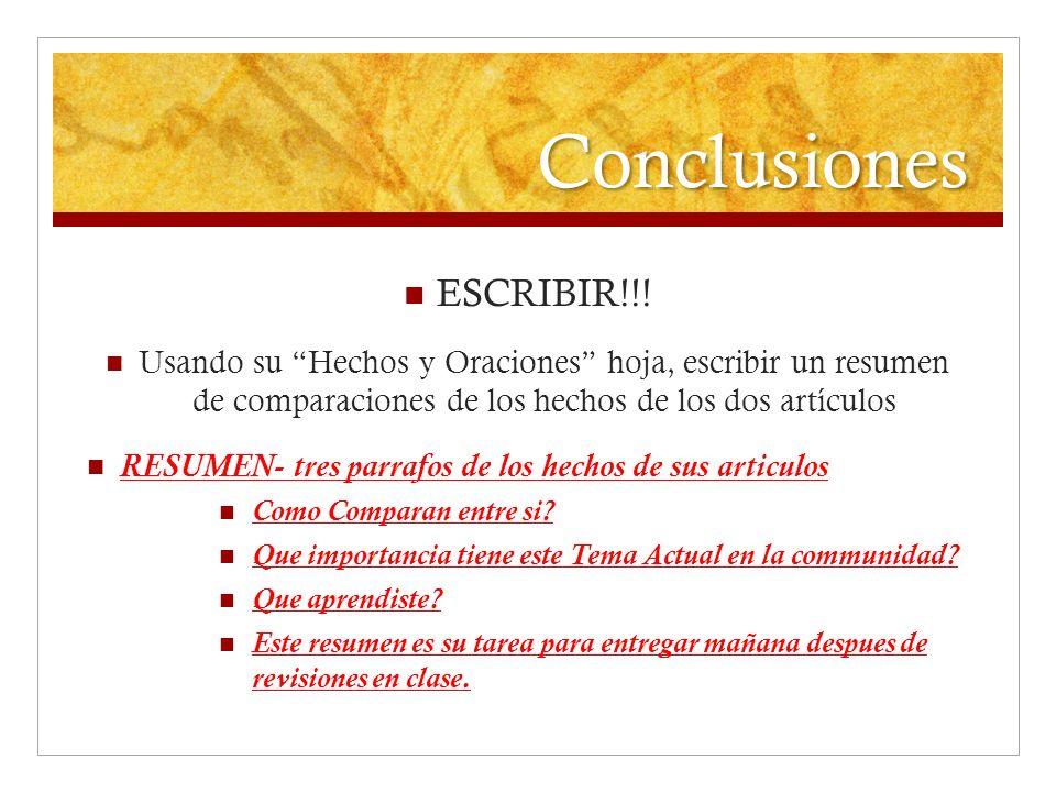 Conclusiones ESCRIBIR!!!