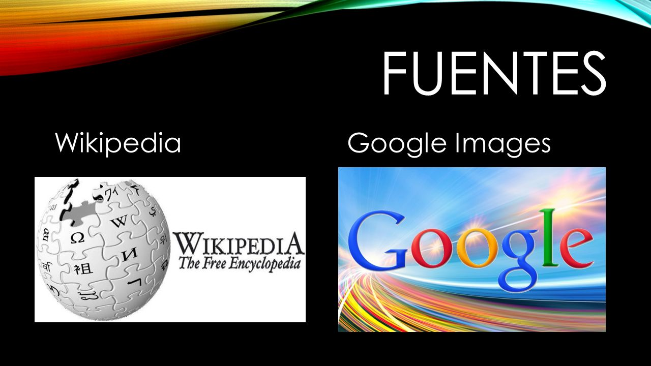 fuentes Wikipedia Google Images