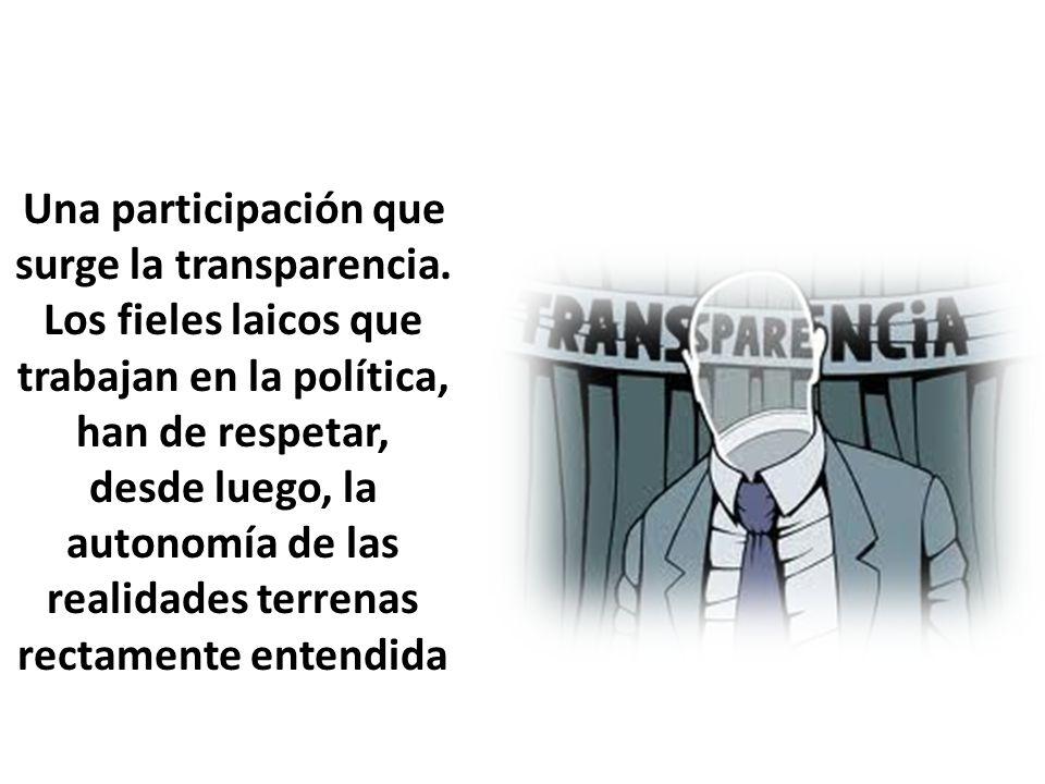 Una participación que surge la transparencia