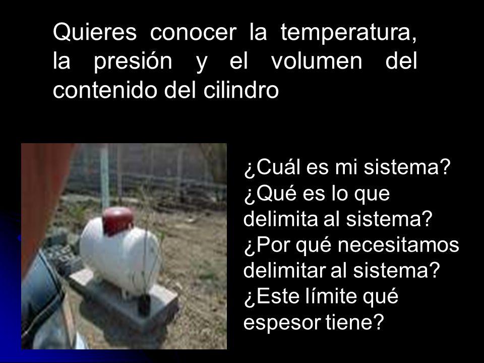 Quieres conocer la temperatura, la presión y el volumen del contenido del cilindro