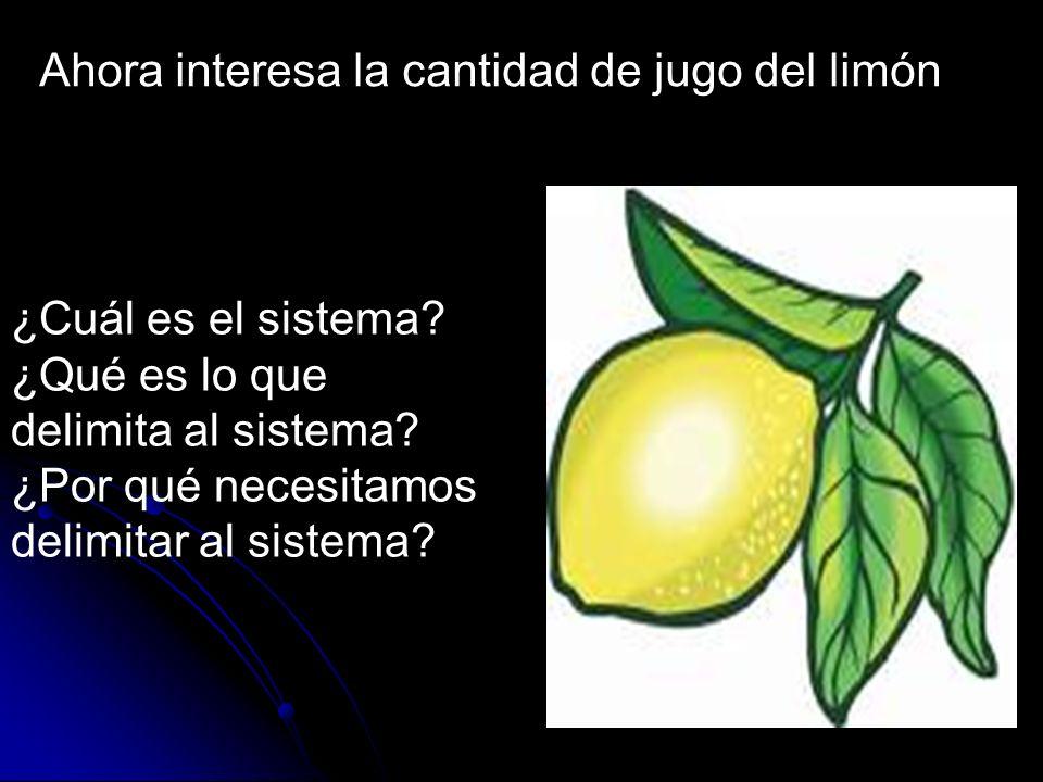 Ahora interesa la cantidad de jugo del limón