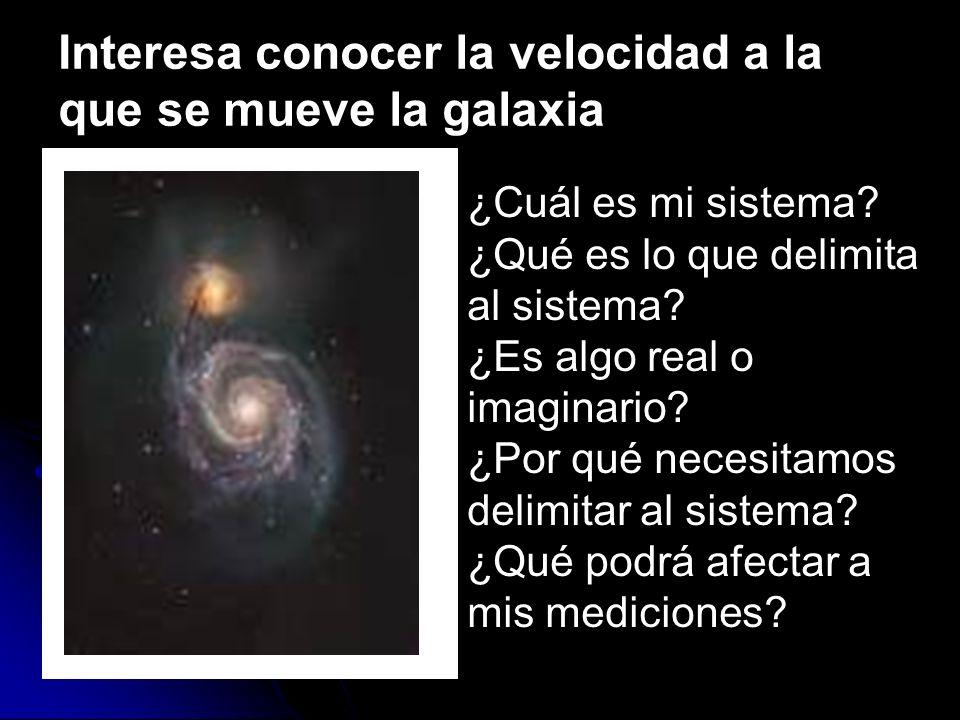 Interesa conocer la velocidad a la que se mueve la galaxia