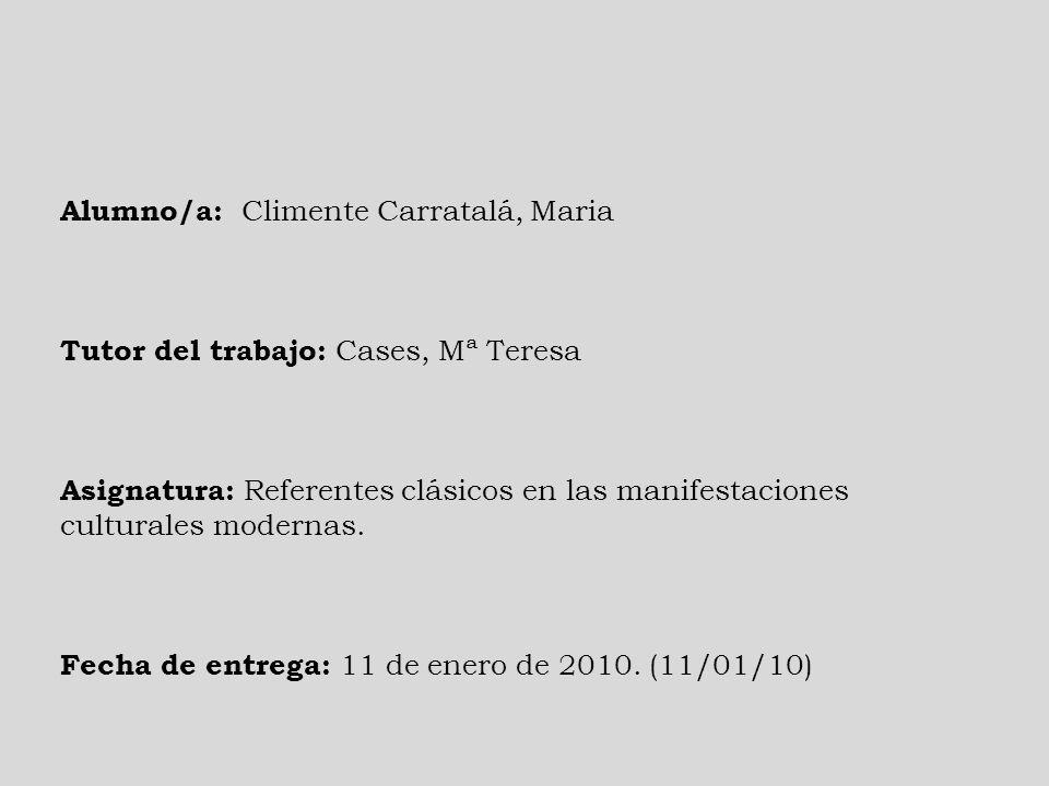 Alumno/a: Climente Carratalá, Maria