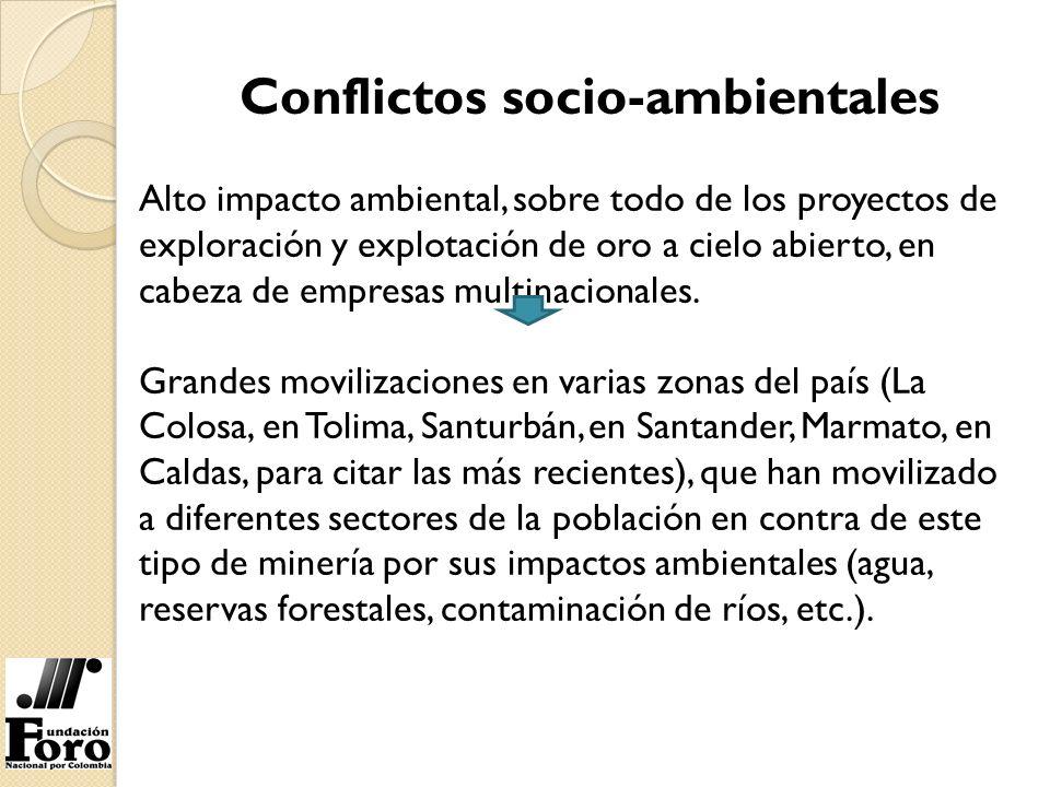 Conflictos socio-ambientales