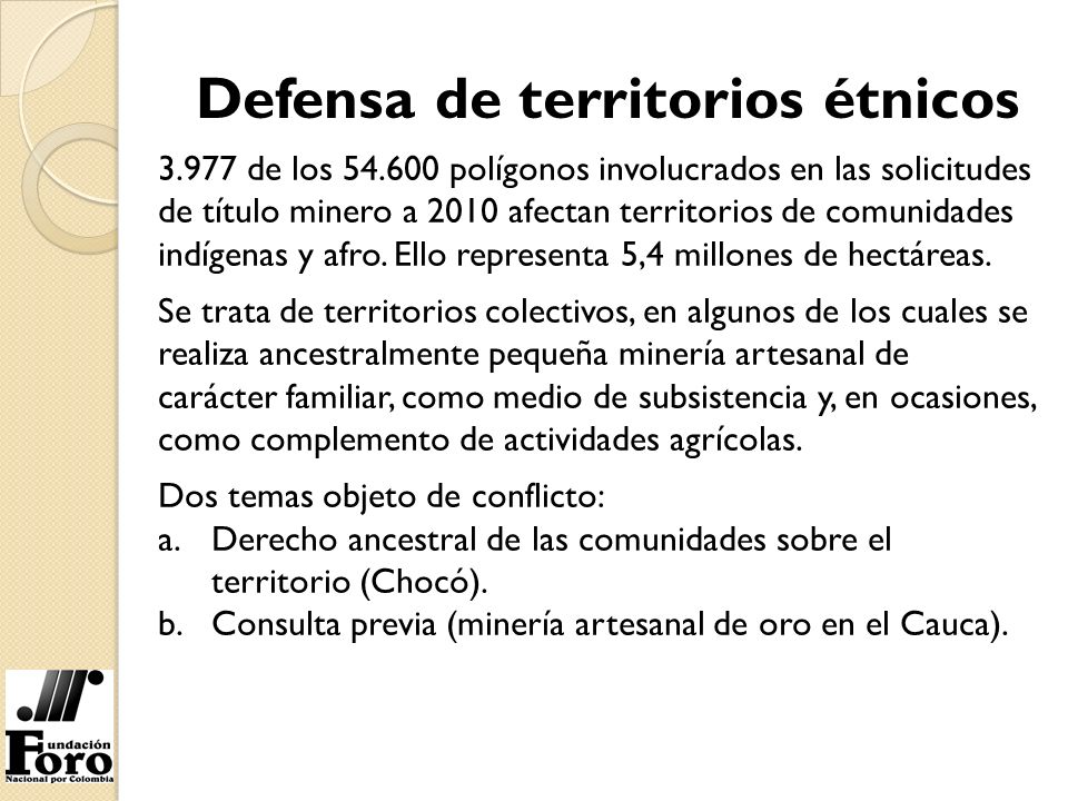 Defensa de territorios étnicos