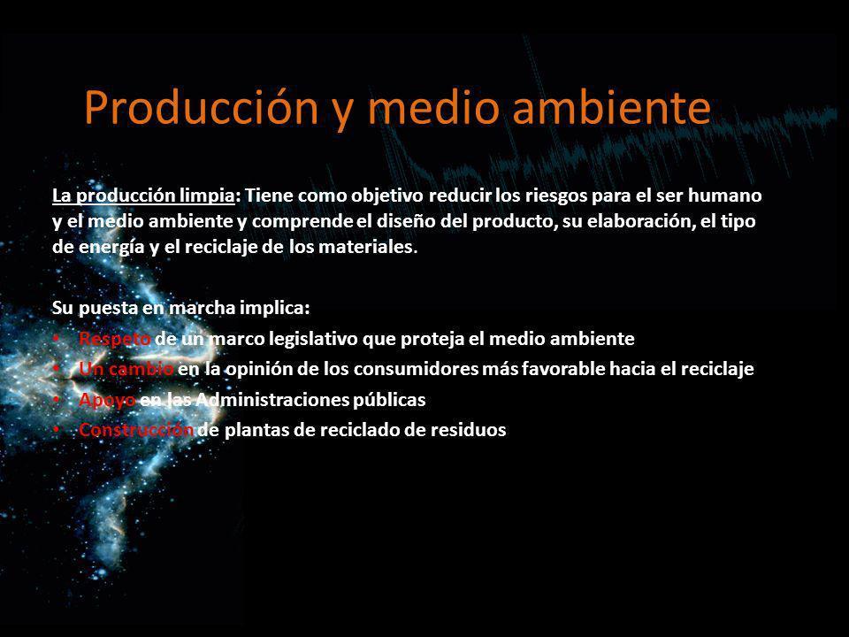 Producción y medio ambiente