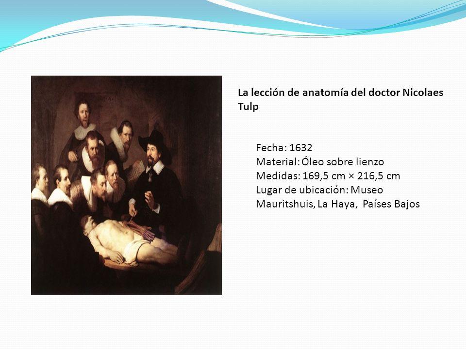La lección de anatomía del doctor Nicolaes Tulp