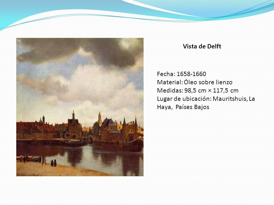 Vista de Delft Fecha: 1658-1660. Material: Óleo sobre lienzo.