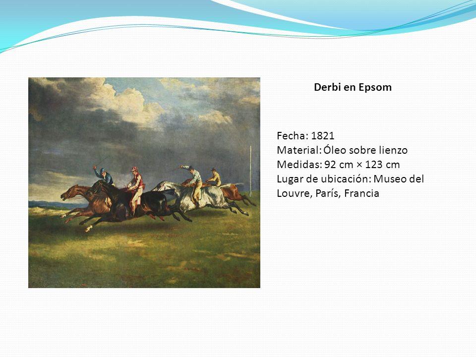 Derbi en Epsom Fecha: 1821. Material: Óleo sobre lienzo.
